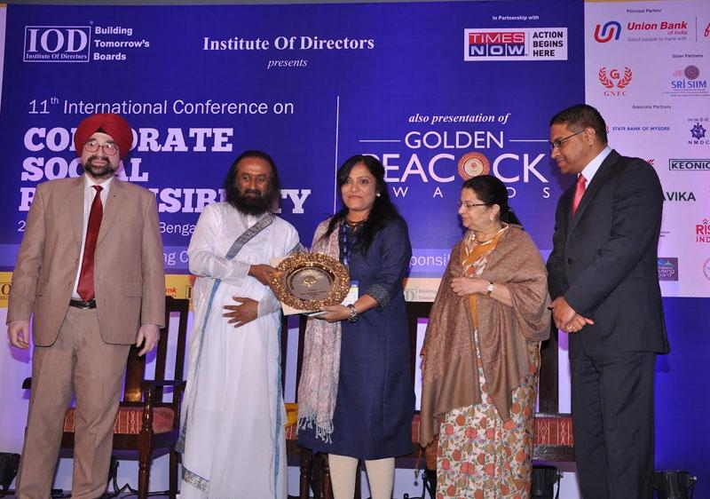 Golden Peacock Award for Corporate Social Responsibility - 2016