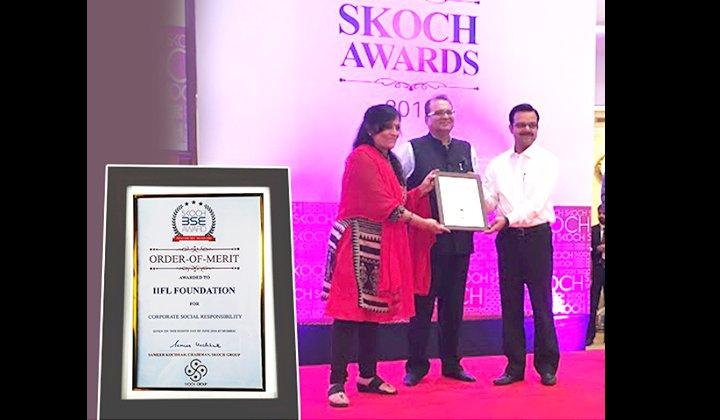 SKOCH BSE AWARD – ORDER OF MERIT FOR CSR