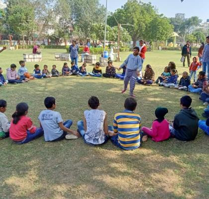 IIFL-ites engaging with children with special abilities