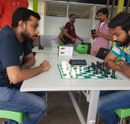 IIFL-ites showcasing their inspiring moves at the Chess Tournament