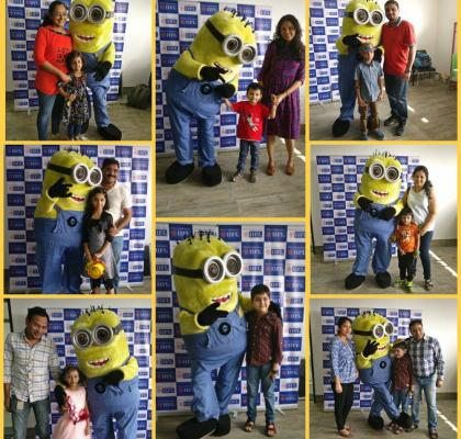 Our little minions having a magical time at the workplace