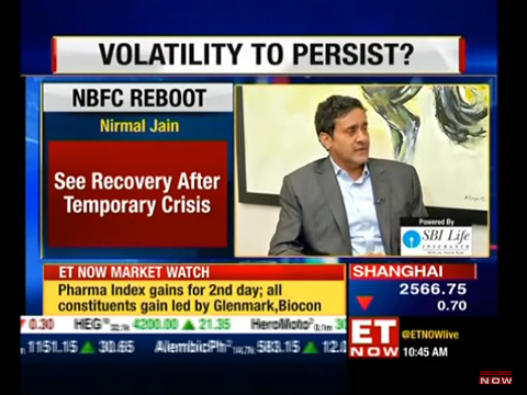 Mr Nirmal Jain Founder and Chairman of IIFL Group speaks exclusively to ET Now