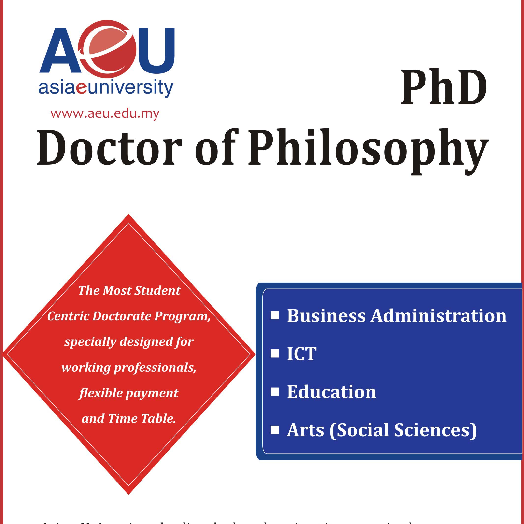 PhD Doctor of Philosophy in Health Administration