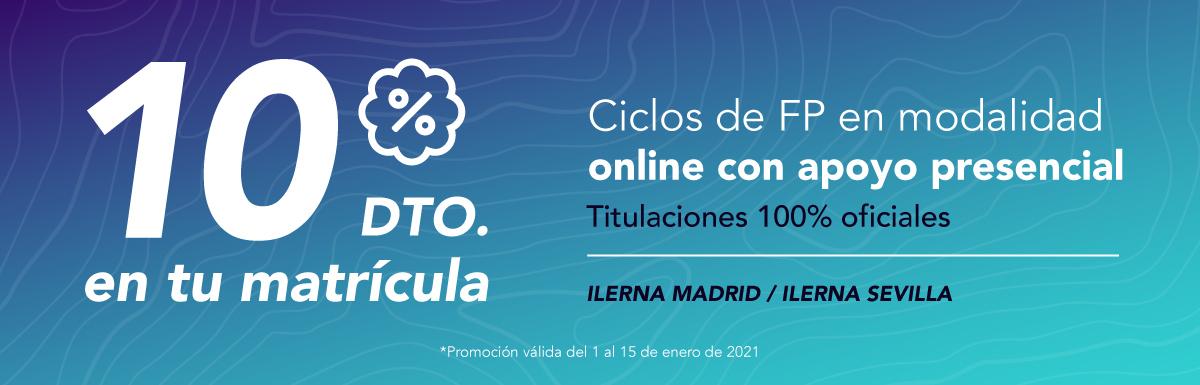 Obtén un descuento del 10% en ILERNA Madrid e ILERNA Sevilla