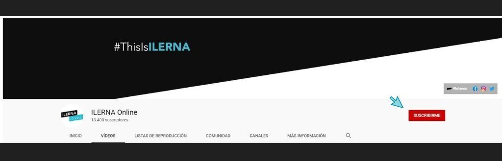 El canal de Youtube de ILERNA Online cuenta con cerca de 13.000 suscriptores
