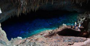 Danau Biru didalam Gua atau Blue Lake Cave atau Gruta do Lago Azul