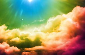 awan warna warni