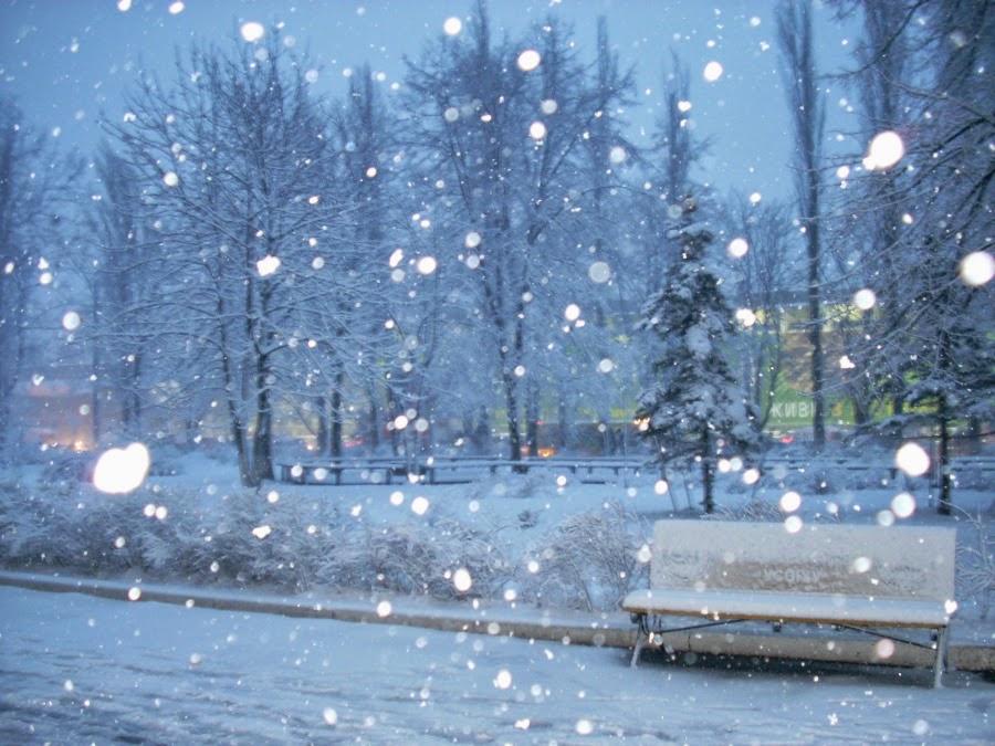 salju turun bergerak