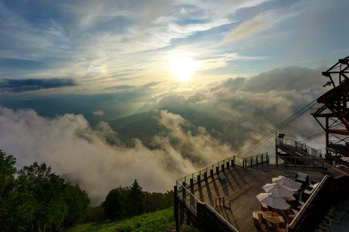 絶景に感動♪ 雲海が一望できる「SORA terrace」へ