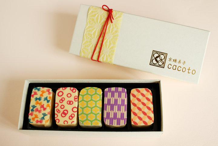 京都発!お土産にしたい、吉祥文様のプチケーキ。「京纏菓子 cacoto」