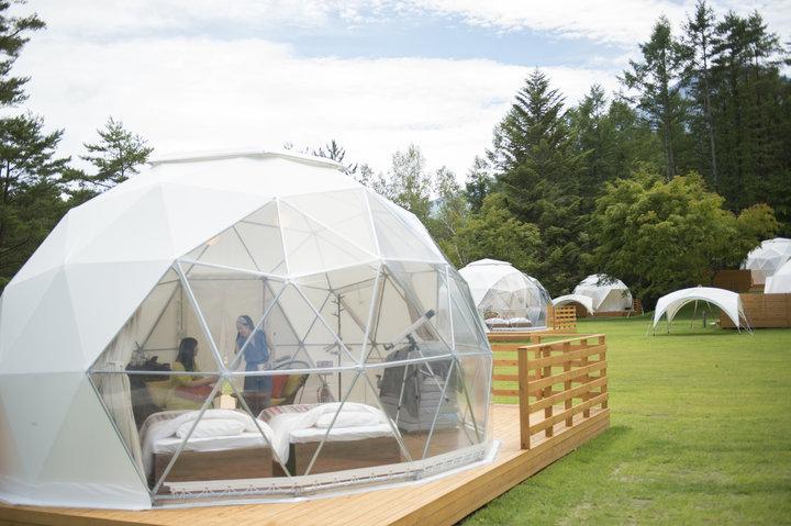 星空鑑賞にぴったり! オリジナルのドームテント