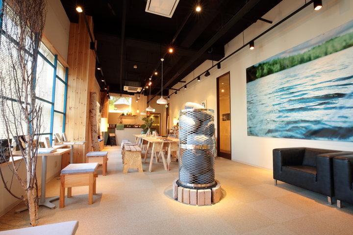 こだわりのオシャレ空間。まるで北欧のカフェ気分