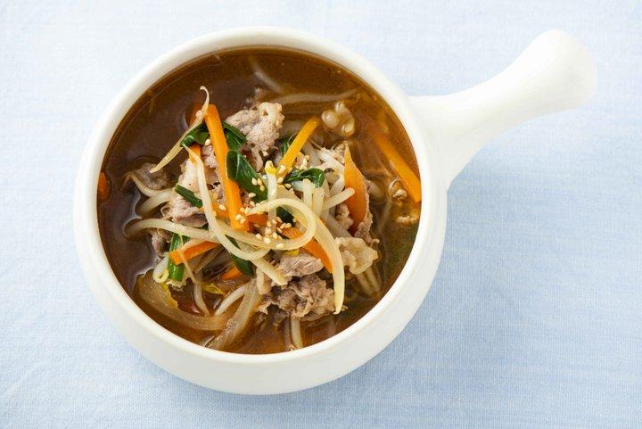 ピリ辛がやみつき!「近江牛の韓国風スープ」