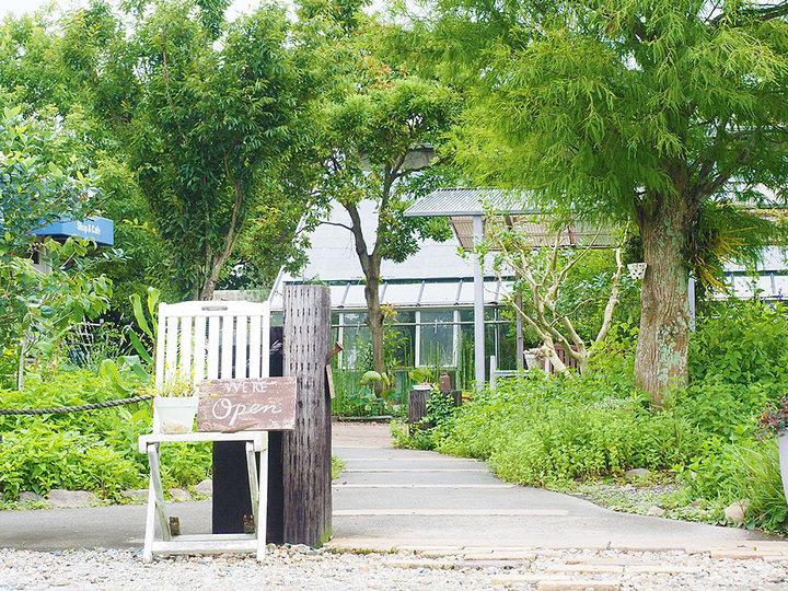 メロン農場の片隅にあるカフェ