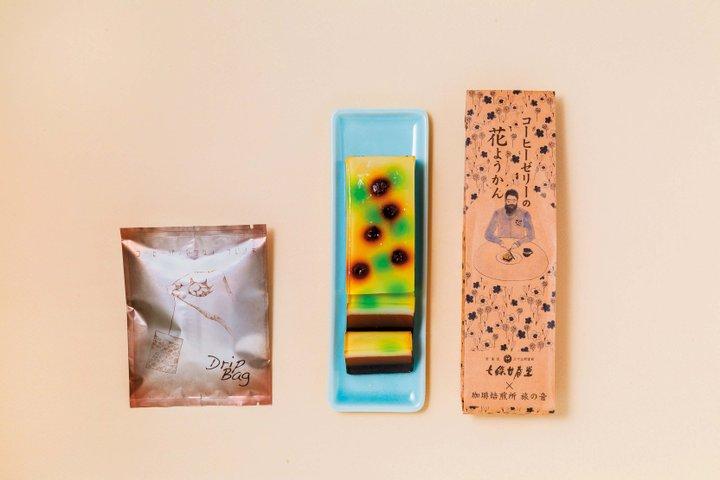 和菓子店とコラボしたコーヒーの羊羹×ゼリー「旅の音」