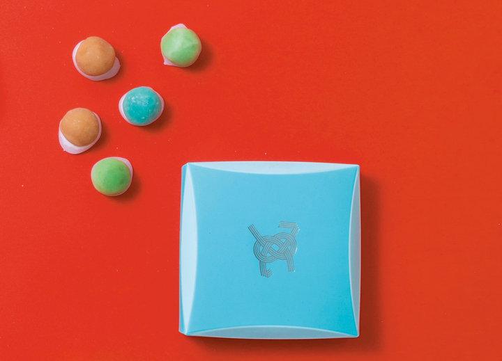 ちょこんと愛らしいサイズのお菓子「といろ」
