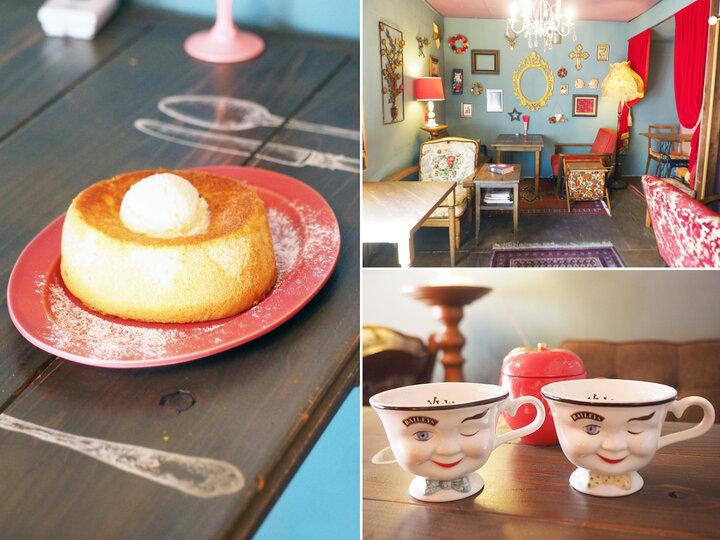 おとぎの国に来たみたい♪ 秘密の大人カフェ「トッコ」で見つけた、こんがりバターシフォンケーキ