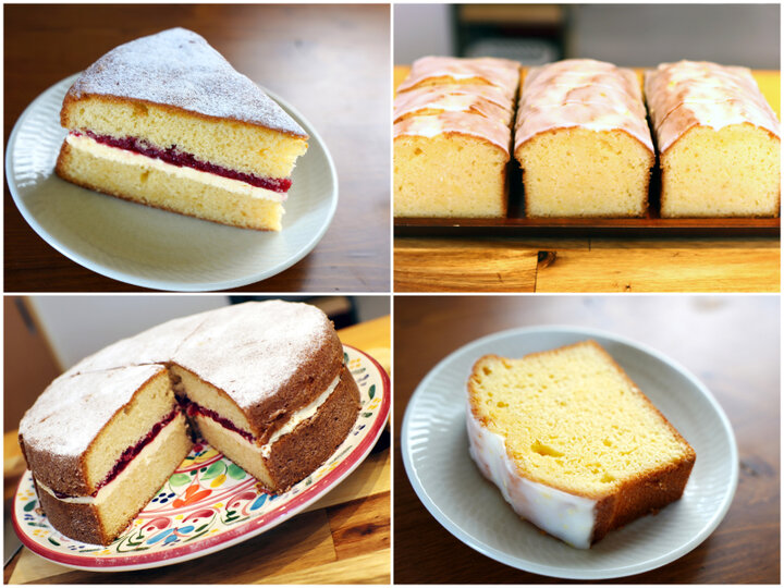 ビクトリアスポンジケーキ&レモンケーキは生地がホロリ