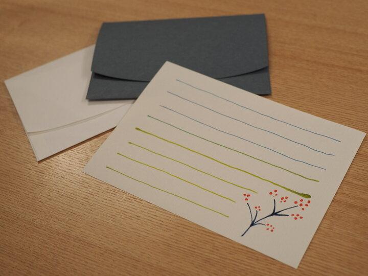 作った便箋は封筒とセットでお持ち帰り