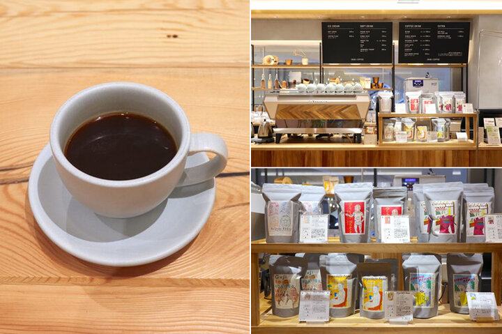 自社焙煎の新鮮で香ばしいコーヒーが揃う