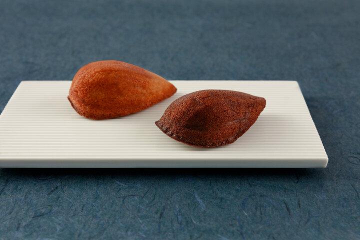 カカオの実の形の焼き菓子「カカオレーヌ」