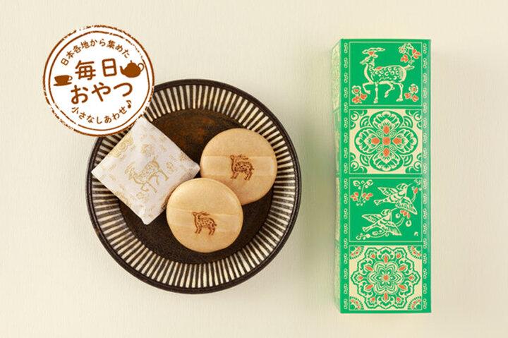 【毎日おやつ】正倉院紋様の小箱やレトロな刻印がすてきな最中「鹿もなか」/奈良県
