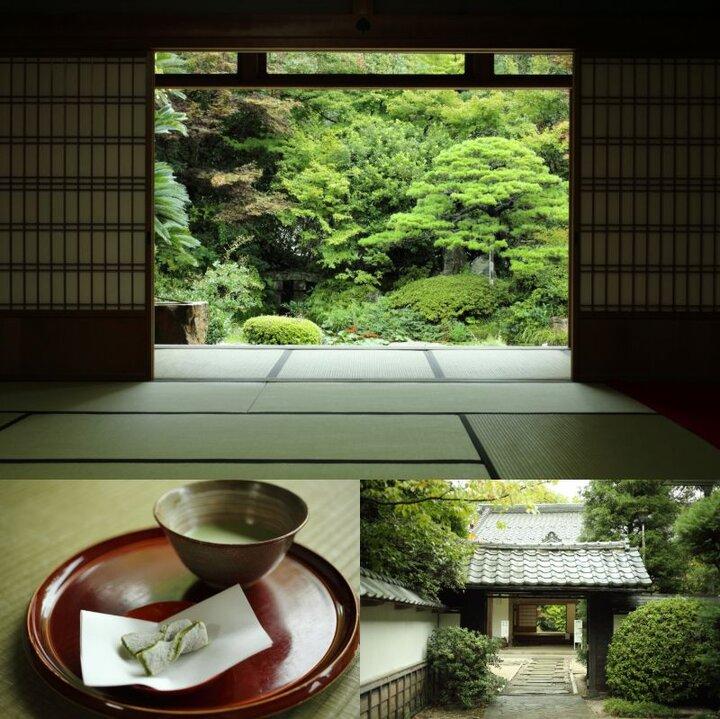 松平藩松平家の菩提寺「月照寺」では、白ごま入りの求肥が香ばしい和菓子を味わいましょう