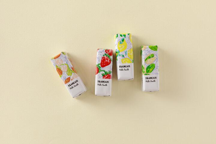 クリームの個性豊かなチョコレート菓子「果実をたのしむミルフィユ」