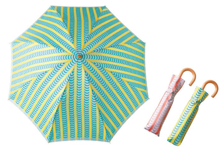 【山梨県西桂町】伝統のジャカード織に北欧デザインが映える「槇田商店」の折りたたみ傘