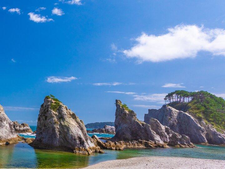 【宮古駅】景勝地・浄土ヶ浜で海岸をおさんぽ。名物の「瓶ドン」も忘れずに