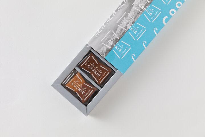 半分はチョコ味を楽しめる、3枚重ねのクッキー「LaLaLa COOKIE」/北海道