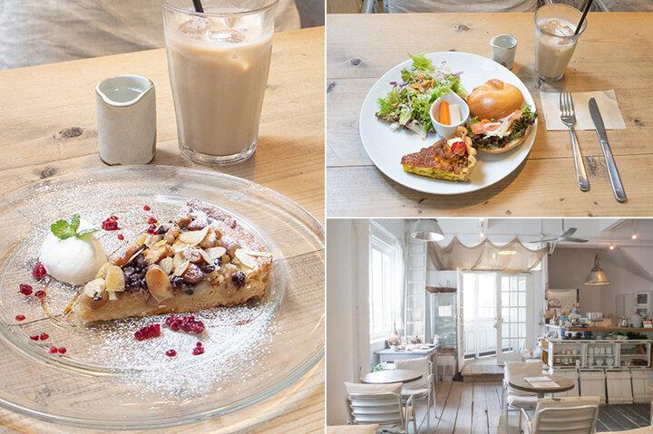 白い外観が目印。キッシュが人気の大阪「cafe fouet°」