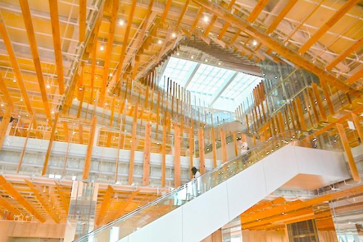 木のぬくもりに包まれた森のような空間―美しいガラスアートの世界に浸れる「富山市ガラス美術館」