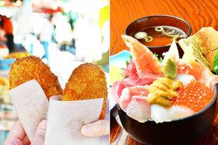 お得に名物を食べるならココ! 仙台のおいしいものが集まる朝市をグルメさんぽ