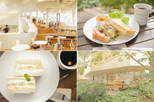 公園の緑を望むテラス席でフレンチシェフが作る本格サンドイッチを/代官山「モンキーカフェ」