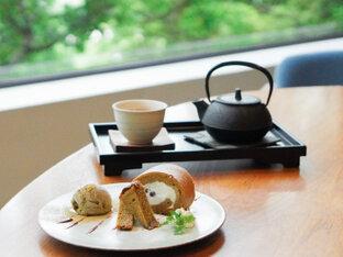金沢21世紀美術館が目の前!木々に囲まれた「古都美」でいただく加賀ほうじ棒茶スイーツ