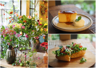 花の香りに包まれながらランチが楽しめる!花屋の中にある隠れ家カフェ「吉祥寺ひとくさ/くろもじ珈琲」