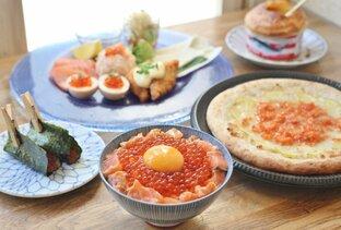 おしゃれな前菜から卵かけご飯まで。サーモンのフルコースを満喫できる専門店「サーモンパンチ」