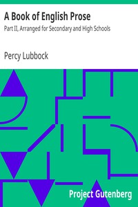 A Book of English Prose by Percy Lubbock