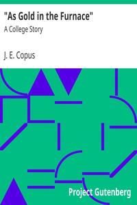 """""""As Gold in the Furnace"""" : A College Story by J. E. Copus"""