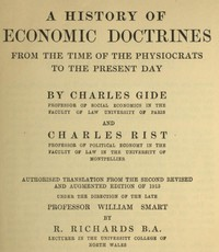 A History of Economic Doctrines by Charles Gide and Charles Rist