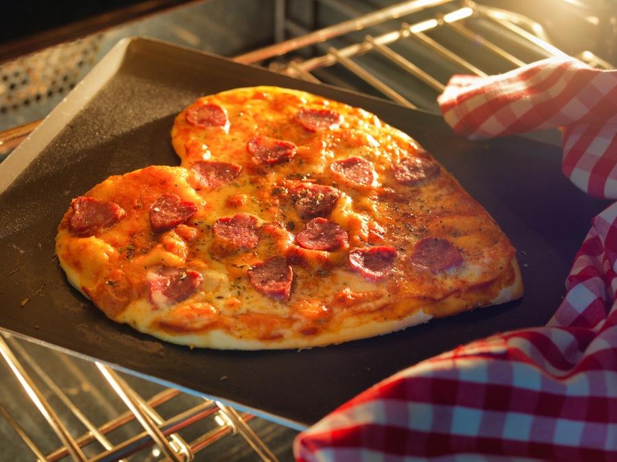 Pizza de Calabresa de Coração