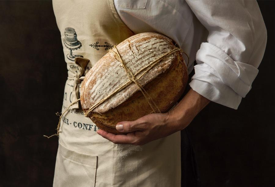 Pão de Milho com Levain