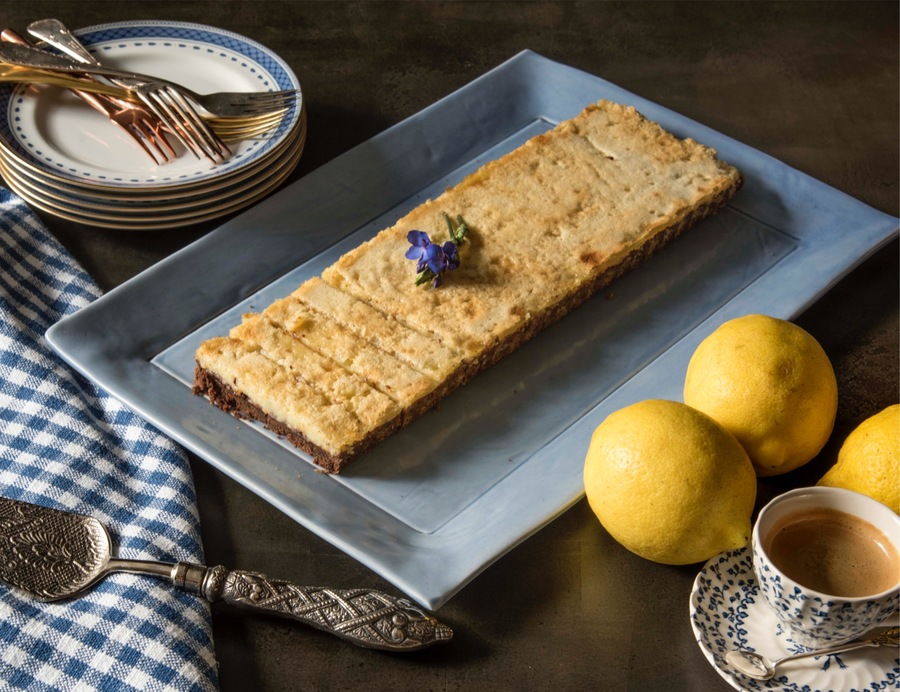 Torta de Limão com Base de Chocolate