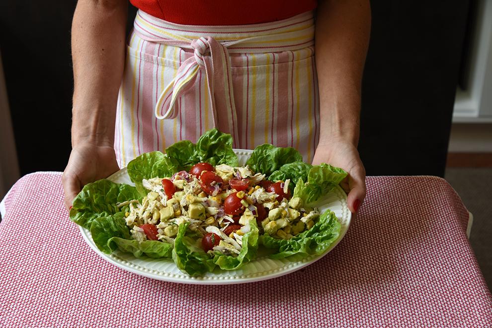 Salada de Frango com Avocado