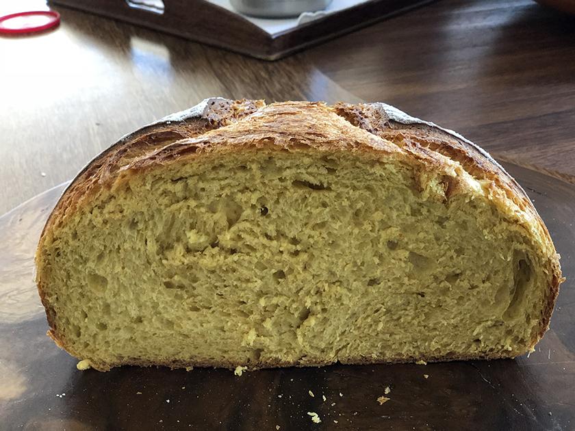 Pão de Abóbora com Levain