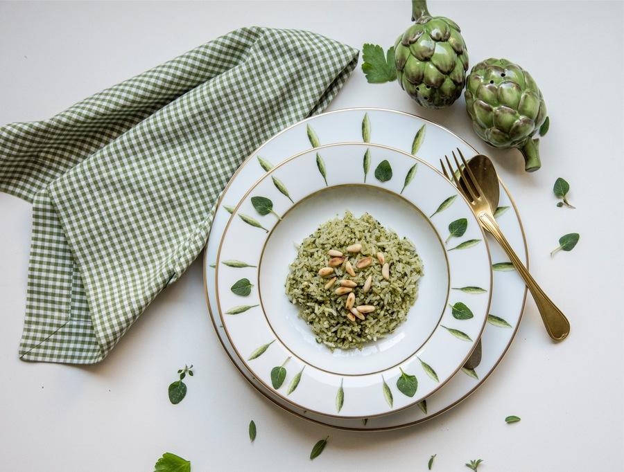 Arroz de Pesto e Pinoli