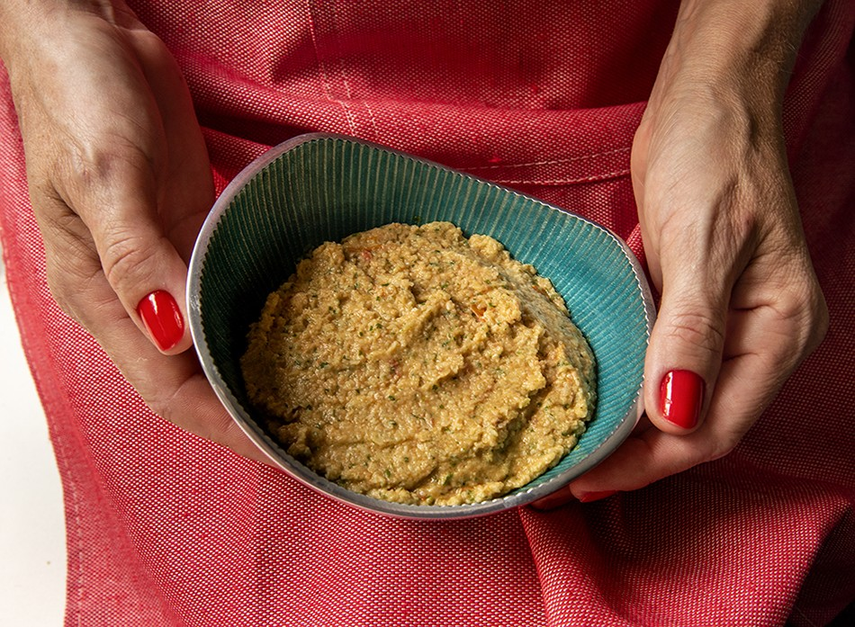 Pesto de Alcachofra com Tomatinhos Assados