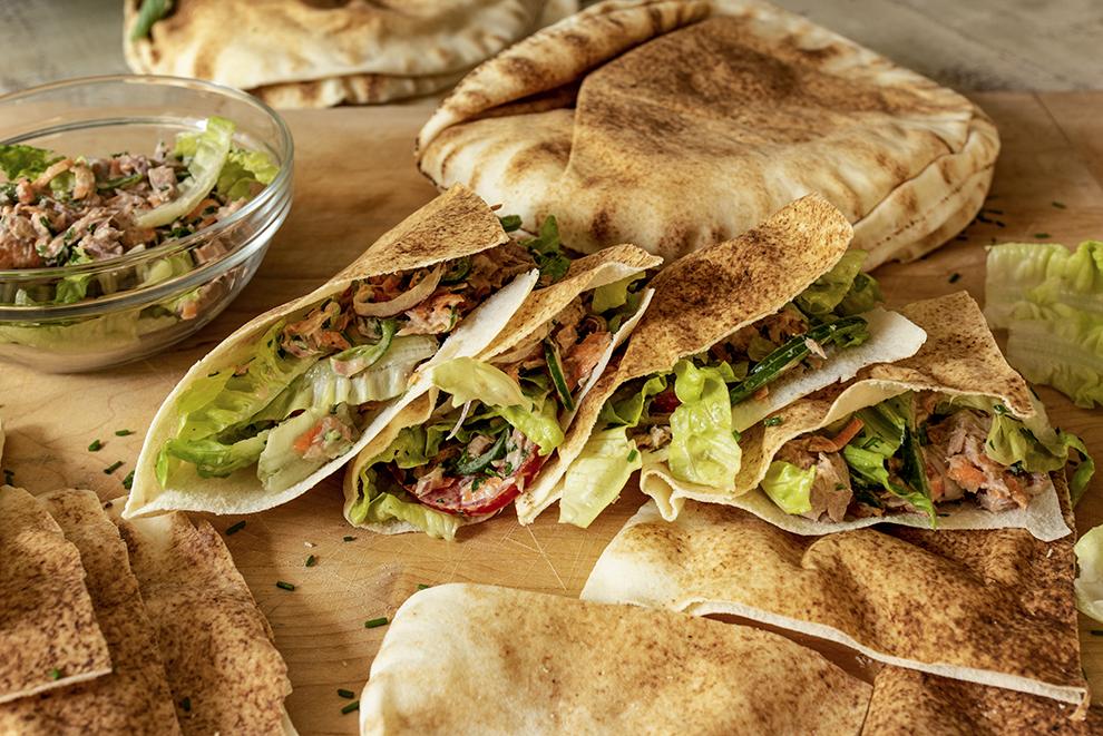 Sanduíche de Atum com Legumes