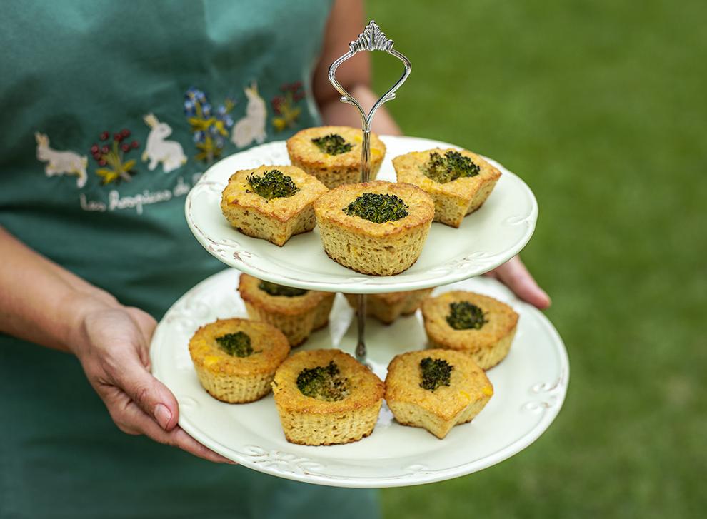 Tortinha-Muffin de Milho com Brócolis